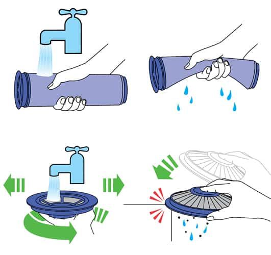 How to clean dyson filters