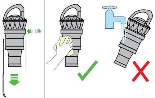 how to clean a dyson clear bin and cyclone