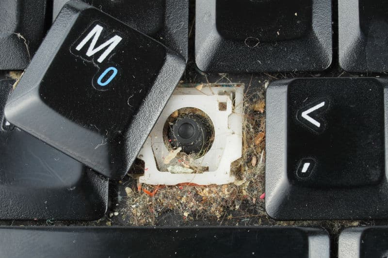 remove a laptops keys before cleaning