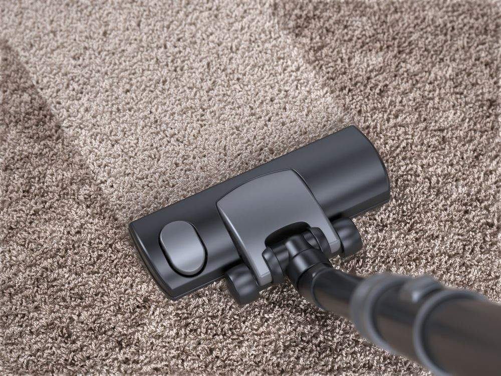 Deep cleaning a dirty carpet