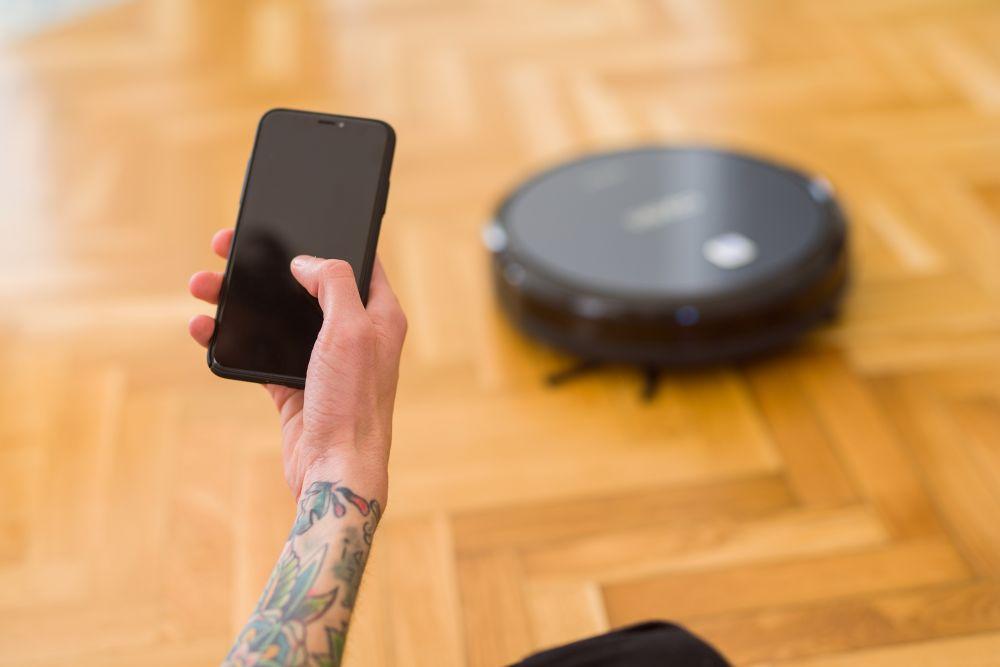 robot mop via Bluetooth